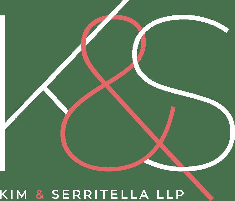 Kim Serritella LLP Logo white and red